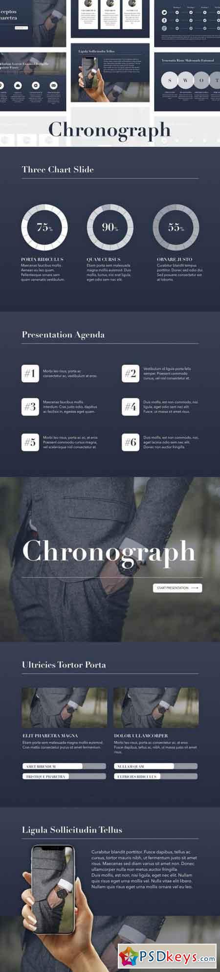 Chronograph Keynote Template