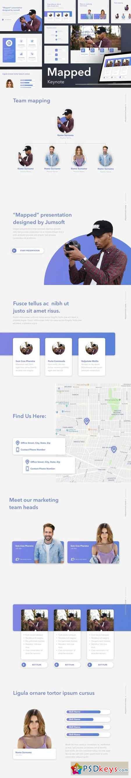 Mapped Keynote Template