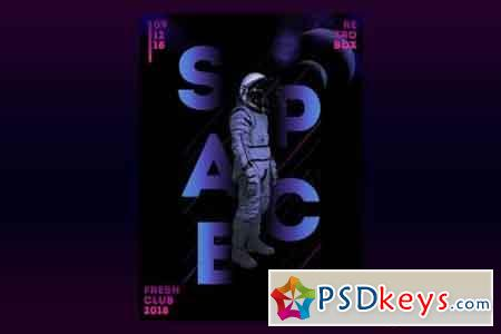 Space Beats Flyer Poster