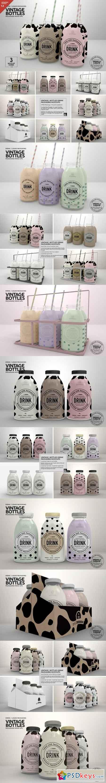 Vintage Bottles Packaging Mockups 908479 Updated May 5