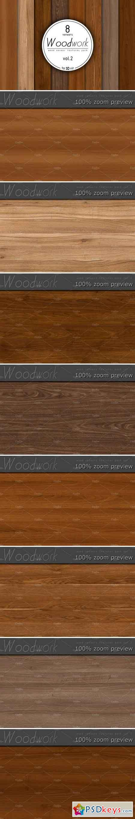 8 wood veneer texture pack vol.2 934806