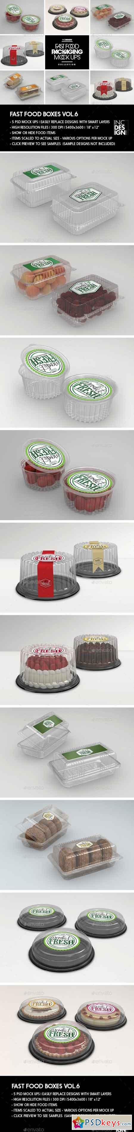 Fast Food Boxes Vol.6 Take Out Packaging Mock Ups 19048071