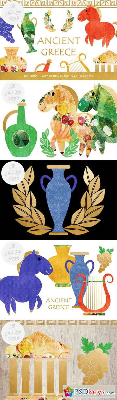 Greek Archeology Clipart Set 2473692