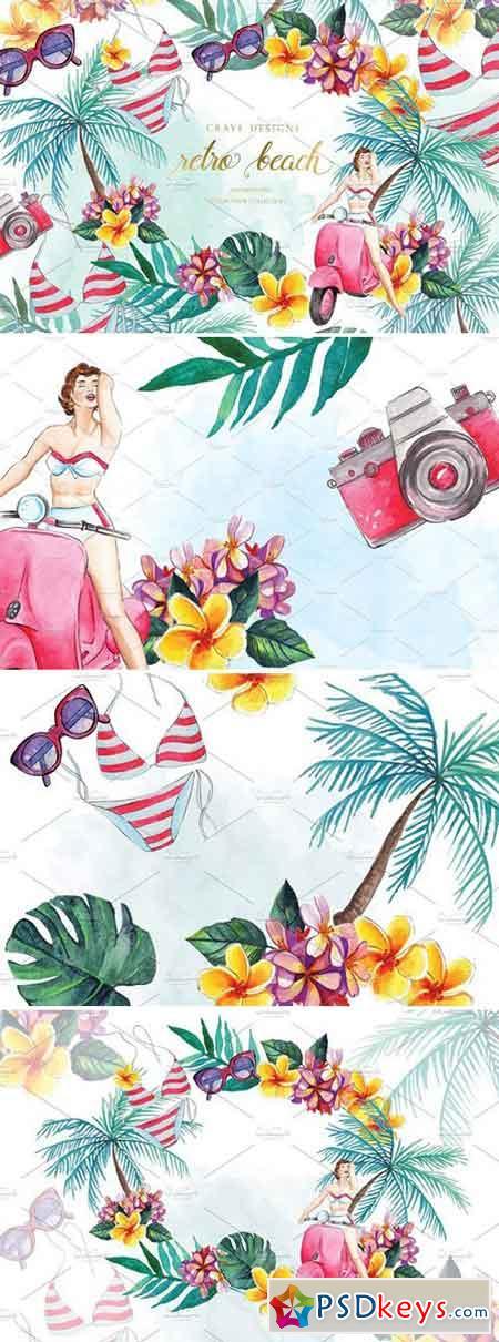 Retro Beach Clip Art 1542638