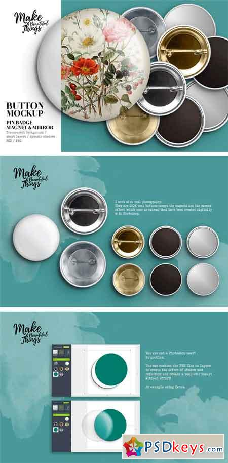 Isolated Pin Button Mockup #1818 2448349