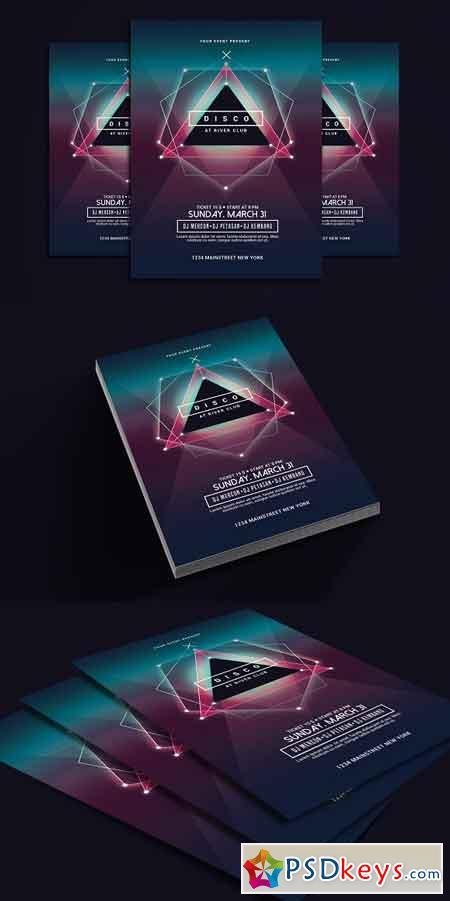 Electro Disco Music Flyer 2505515