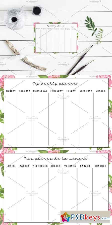Weekly planner template 2410177