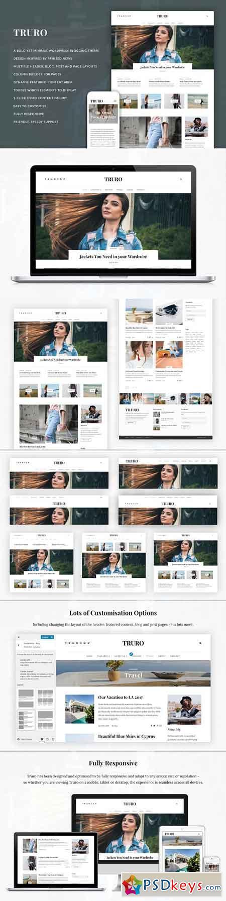 Truro - Bold WP Blogging Theme 2481120