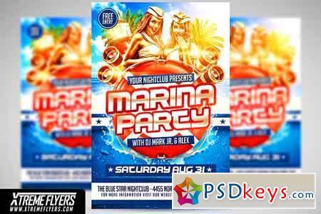Marina Party Flyer 2508128