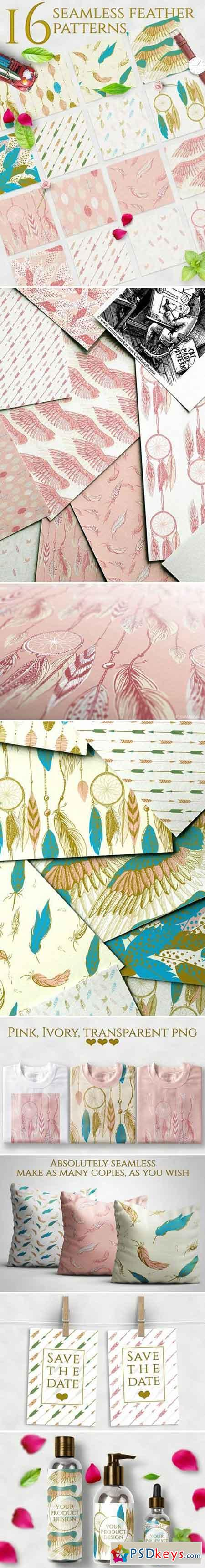 Romantic feather patterns 1537116