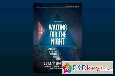 Waiting for the night Flyer Poster