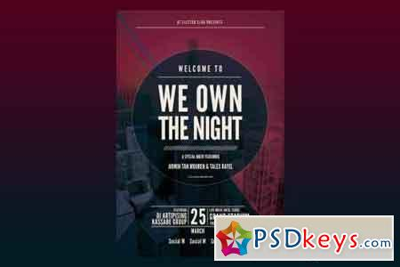 We Own The Night Flyer Poster