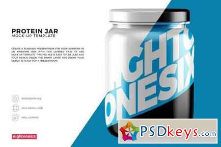 Protein Jar Mock-Up Template