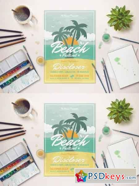 Summer Beach Festival Flyer