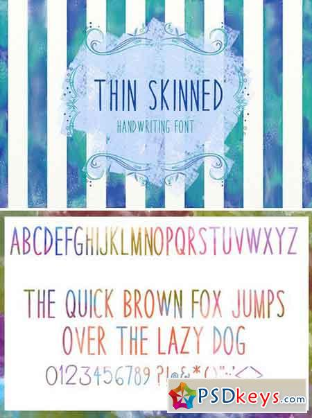 BSD Thin Skinned Font 376201