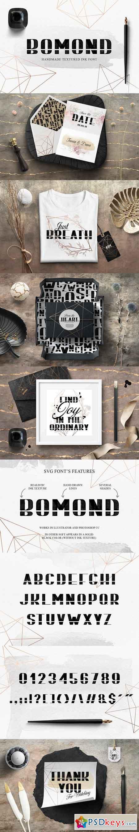 BOMOND Textured Ink Font 2473276