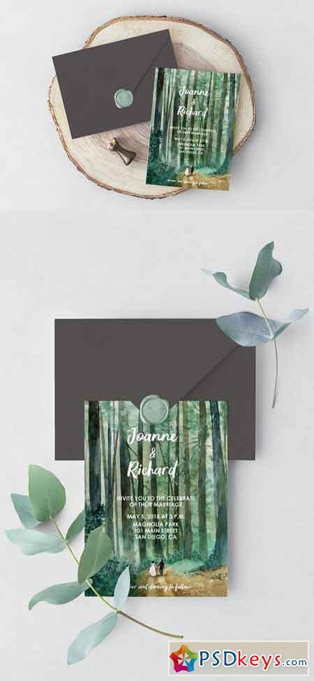 Woodland Wedding Invitation 2474908