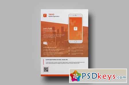 Mobile App Flyer 2506789