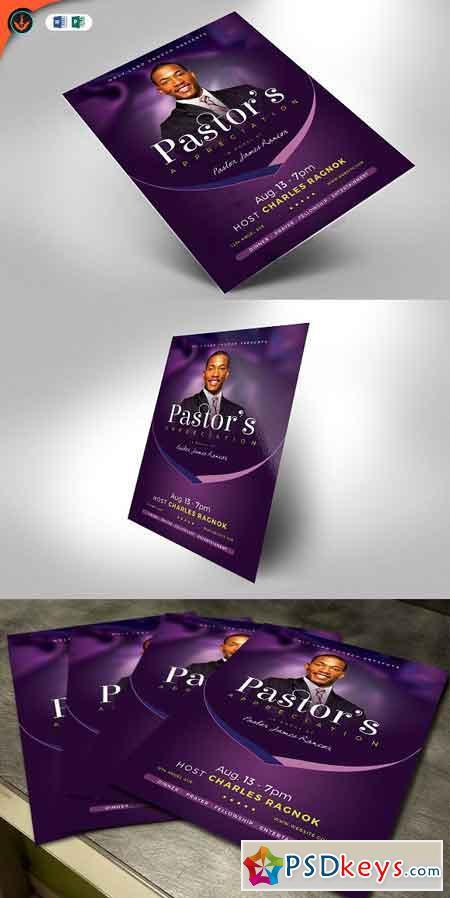 Lavender Pastors Appreciation Flyer 2509058