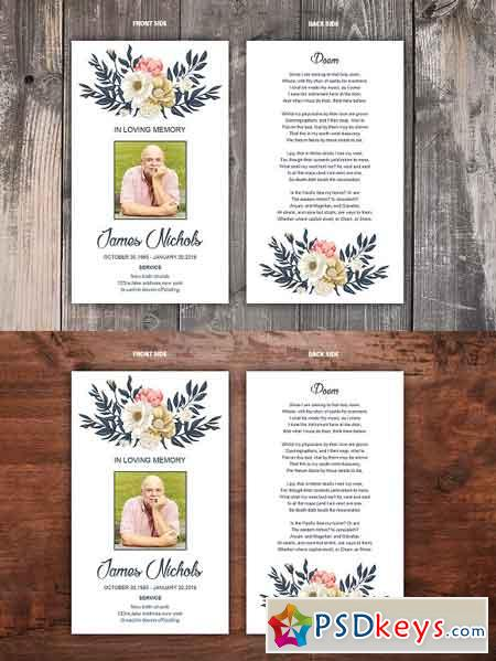 Funeral Prayer Card Template 2506553