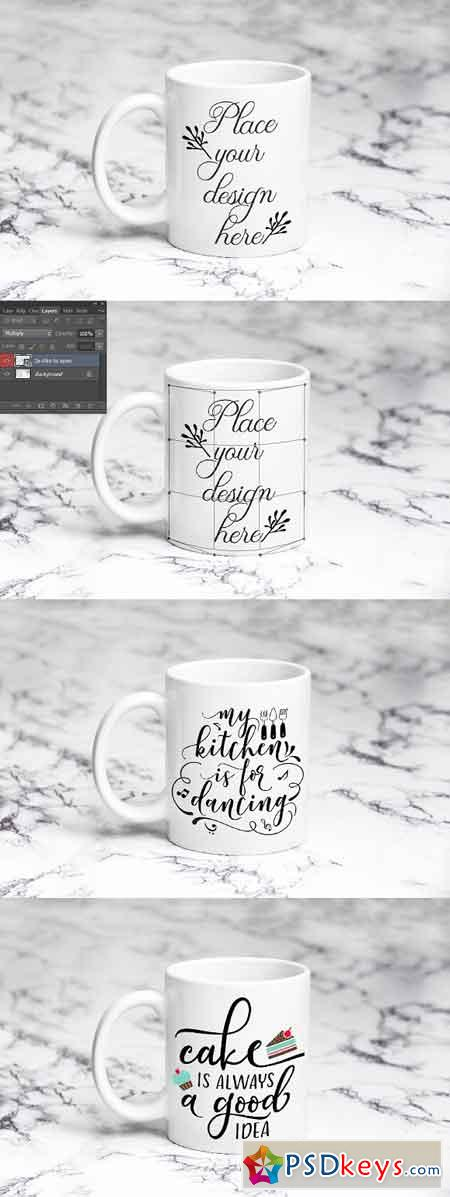 White coffee mug 11oz cup mockup 2505685