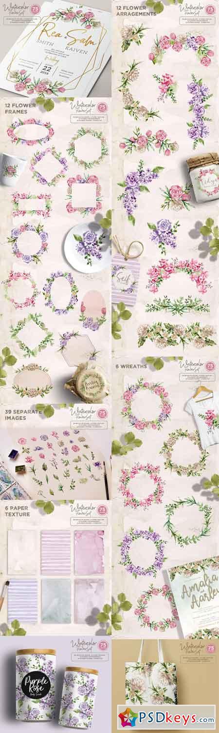 Watercolor Flower Set 2475514