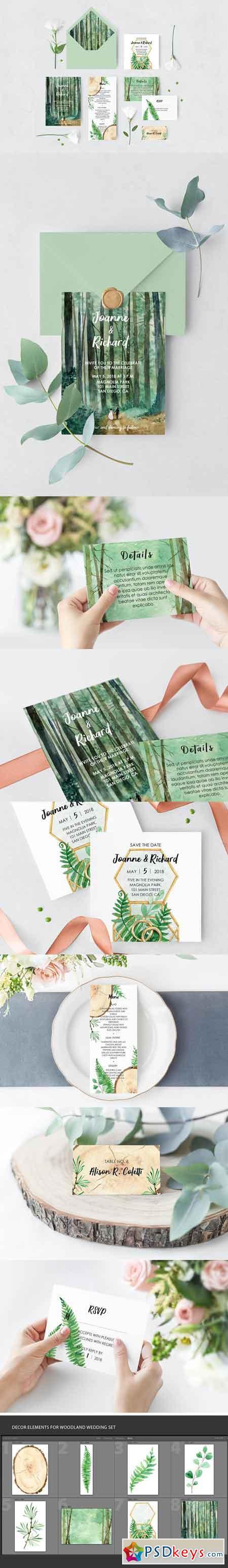 Woodland Wedding Set 2466343