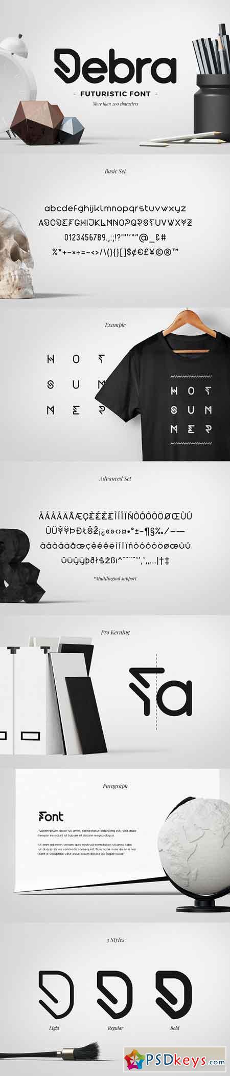 Debra Rounded - Futuristic Typeface 2477633