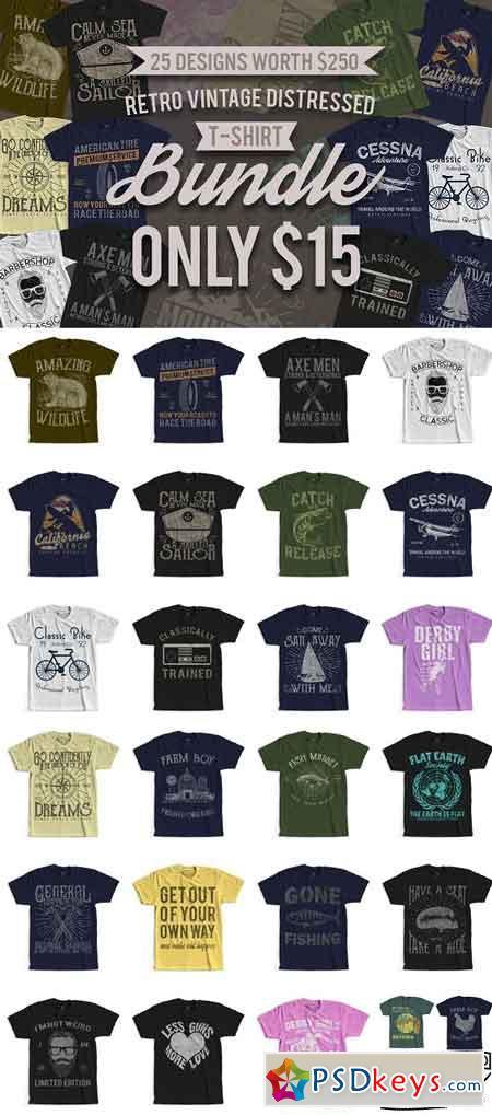 25 Retro Vintage T-Shirt Designs 2475655