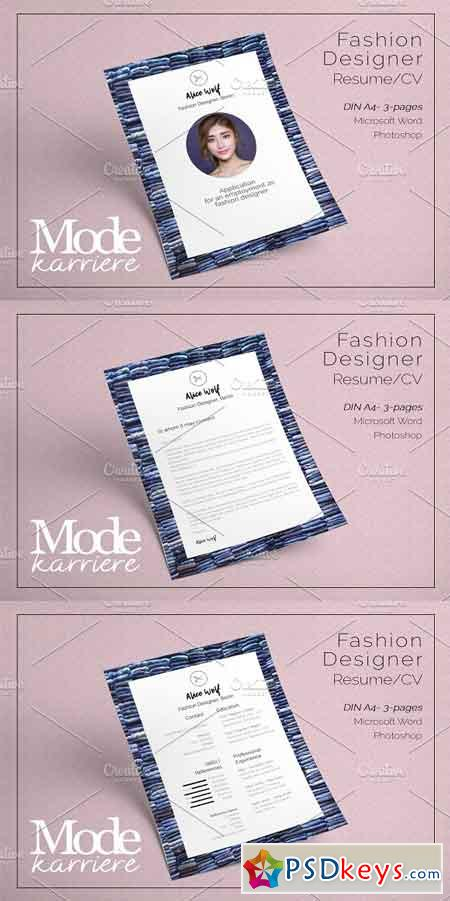 Resume Fashion Design - Alice Wolf 2418009