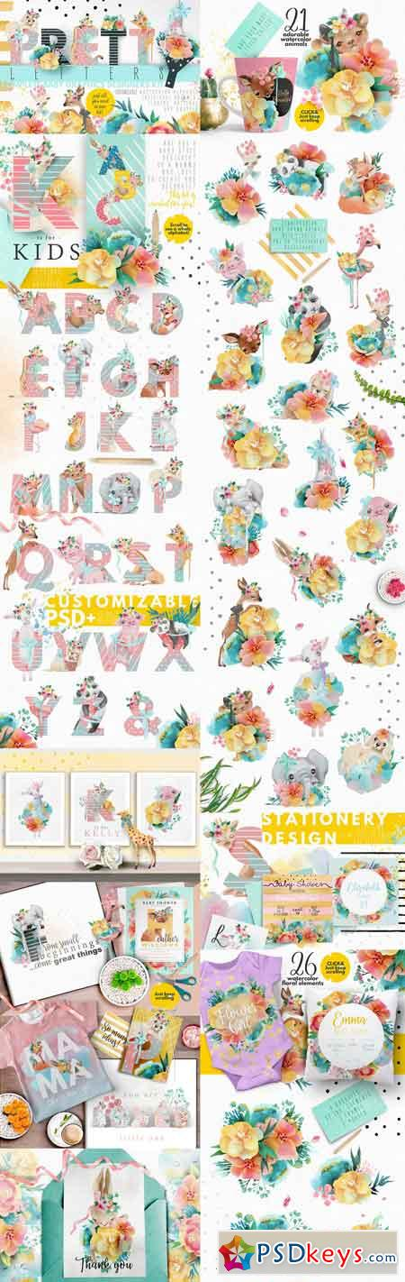 Pretty Letters - Baby Designers Kit 2462570