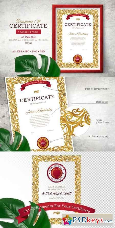 Template Of Certificate Vol.1 2411602