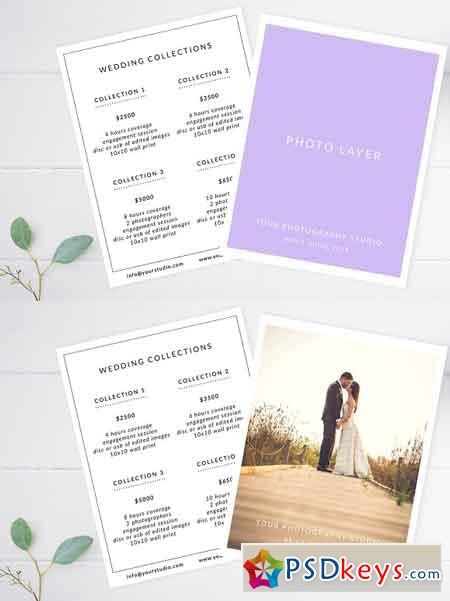 Wedding Price Guide Template 2418508