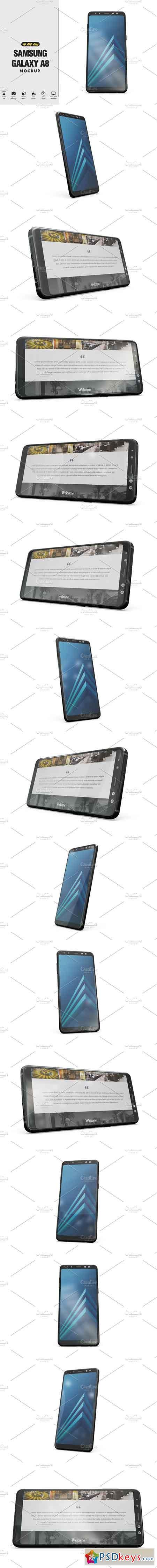 Samsung Galaxy A8 App Mockup v2 2475723