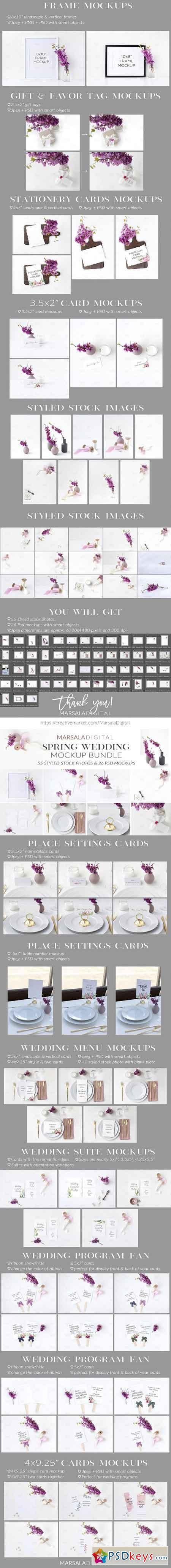Spring Wedding Mockup Bundle 2473252