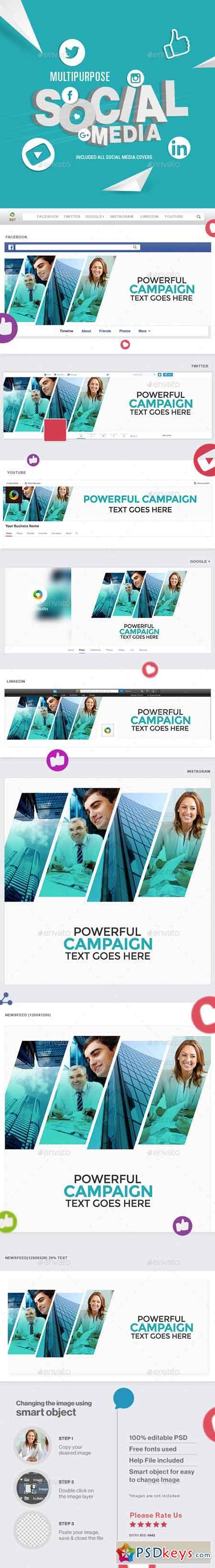 Multipurpose Social Media Pack 21878695