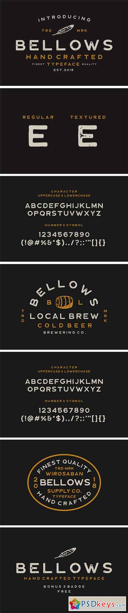 Bellows Typeface 2423121