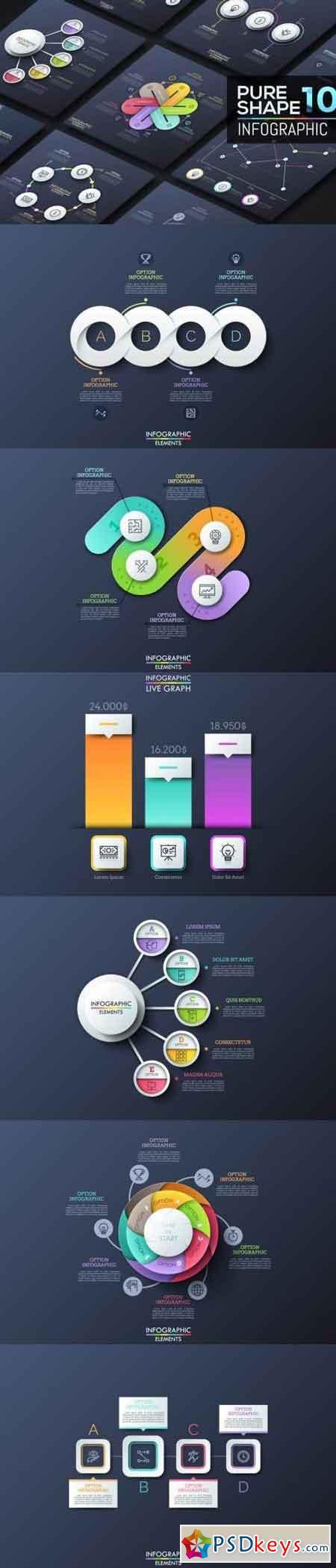 Pure Shape Infographic. Part 10