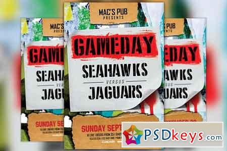 Football Sport Game Flyer Template 2534831