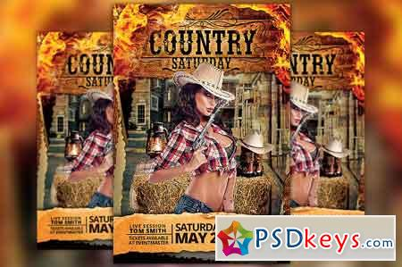 Country Saturday Party Flyer 2534830