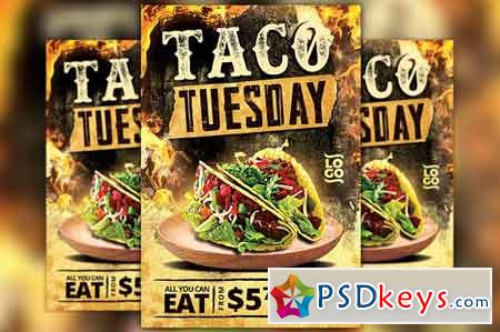 Taco Thursday Flyer Template Vol 2 2534829