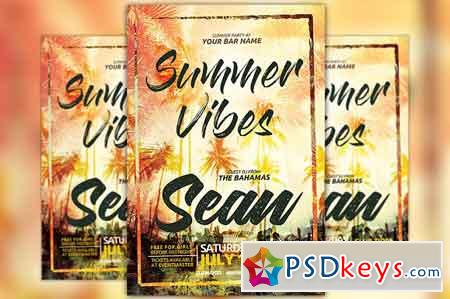 Summer Vibes Flyer Template 2534843