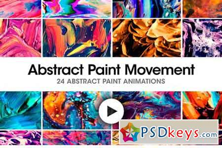 Abstract Paint Movement 24 Videos 2396762