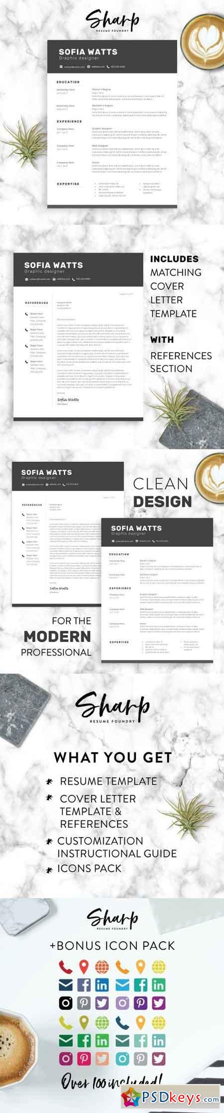 Modern Resume Template for Word 2160564