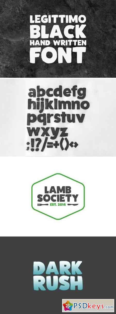 Legittimo Black - Font 2159626