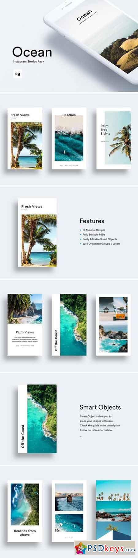 Ocean Instagram Stories Pack 2456929