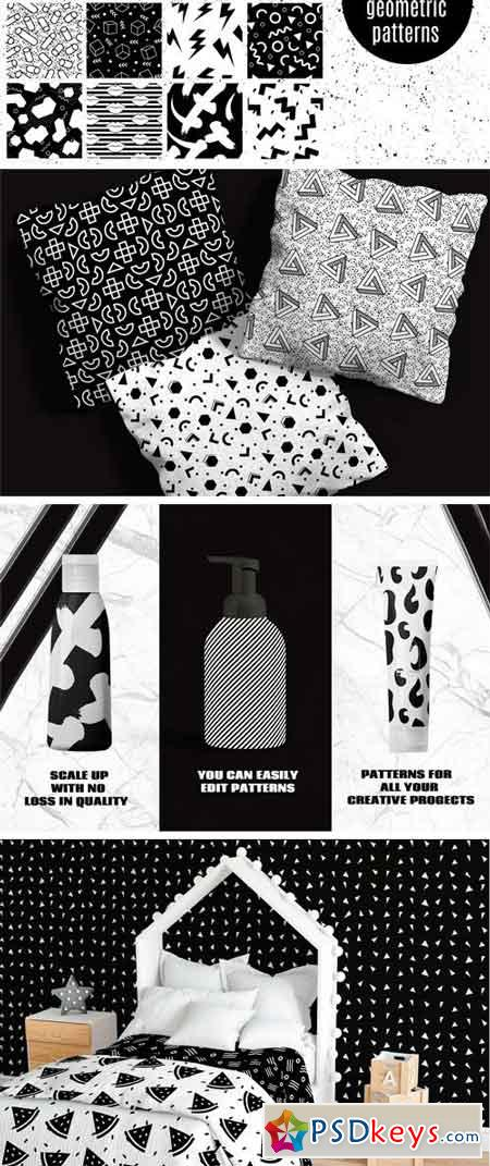 Black and White Geometric Patterns 2395073