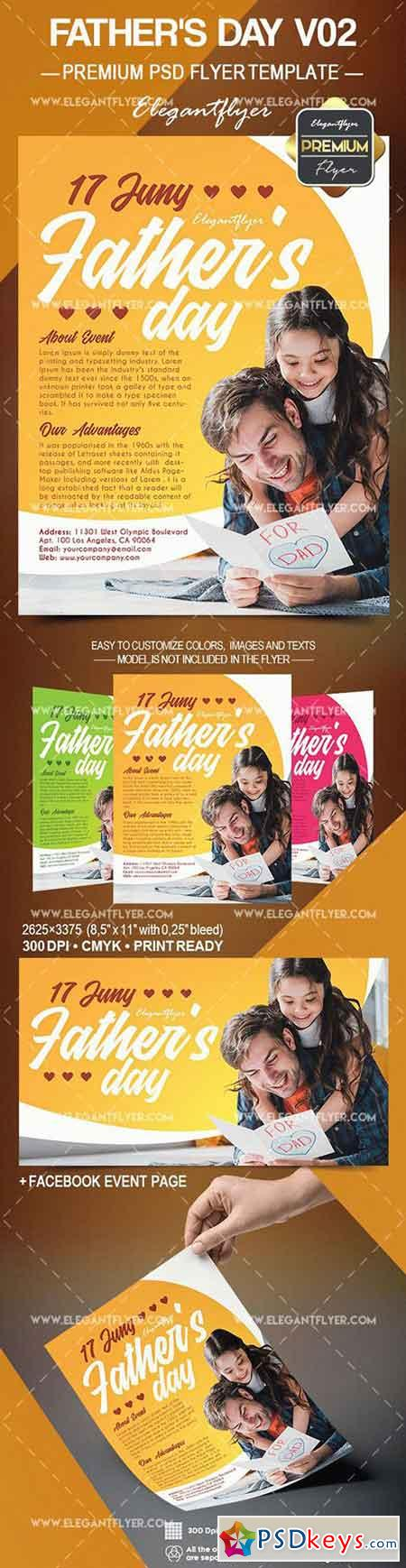 Fathers Day V02 – Flyer PSD Template