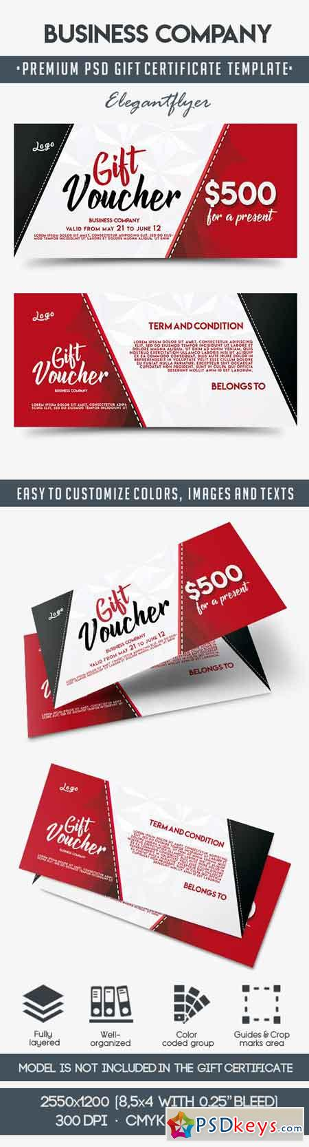 Business Company Gift Certificate Template