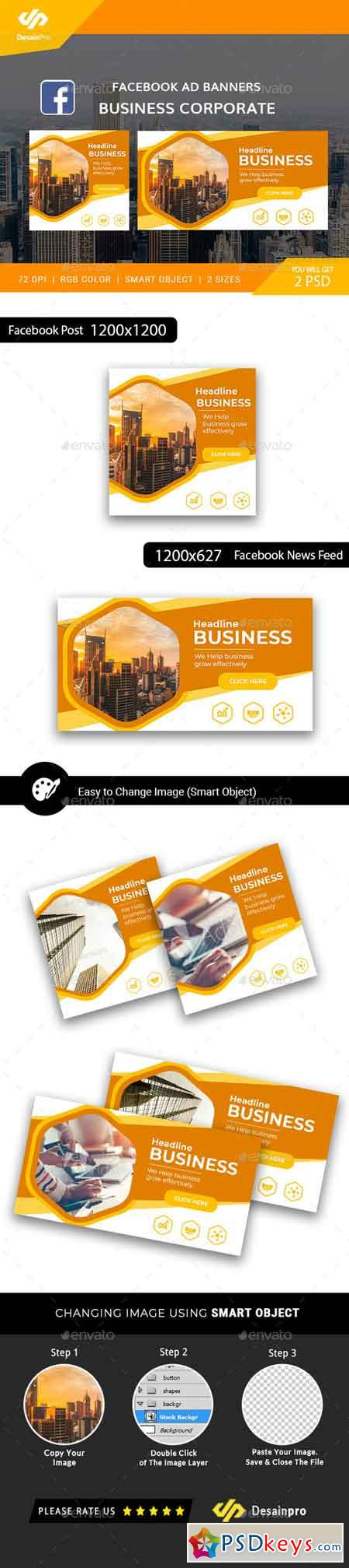 Business Corporate Facebook Ad Banners - AR 21892758